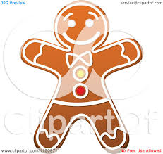 clipart of a christmas gingerbread man cookie royalty free