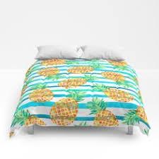funky pineapple bright tropical beach theme summer bedding duvet