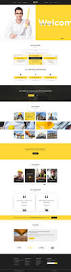 build your house construction psd template by mine tech