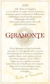 Christian Invitation Card Frescobaldi Tenuta Di Castiglioni Giramonte Toscana Vins