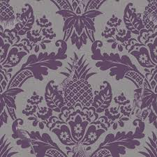 Purple Damask Wallpaper by Holden Bengal Damask Pattern Animal Tiger Zebra Silver Wallpaper 98413