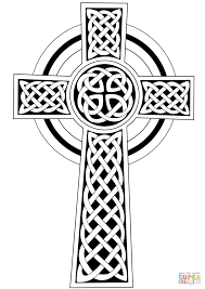 celtic cross coloring page free printable coloring pages irish