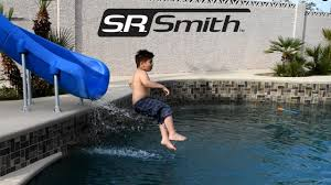 backyard fun with s r smith rogue 2 pool water slide youtube