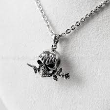 silver skull pendant necklace images 925 sterling silver tango rose skull pendant uniqsum jpg