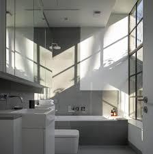 london grey bathroom tiles industrial with crittall windows