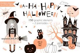 cute halloween graphic kit by olga angelloz thehungryjpeg com