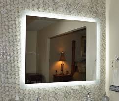 Bathroom Mirror With Lights Built In Bathroom Decoration Using Rectangular Unframed Led Bathroom Mirror
