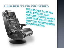 Entertainment Chair X Rocker 51396 Pro Series Pedestal 2 1 Gaming Chair Youtube