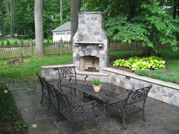 outdoor fireplaces with furniture sets creative classic corner