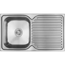Abey Single Bowl Single Drainer Stainless Steel Sink RH Bunnings - Bunnings kitchen sinks