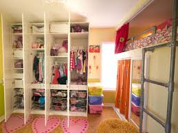 this shared bedroom makes the most of the space with industrial creative shared bedroom for three girls rooms hgtv for meaghanne
