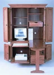 Corner Computer Armoire Armoire For The Home Office Office Space Study Pinterest