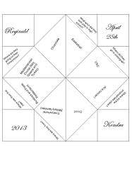 cootie catcher wedding program template diy printable cootie catcher wedding favor by cutencraftyshop
