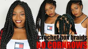 individual crochet box braids no cornrows new method long
