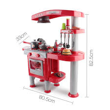 Play Kitchen Red Pretend Play Shopping Flips