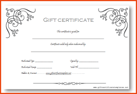 small business gift cards business gift certificate template word small business gift