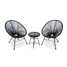 acapulco chaise ensemble de 2 fauteuils acapulco chaises oeufs design rétro avec