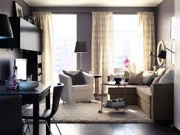 interior minimalist home interior look using round rug ikea in