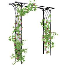 wedding arches at walmart gymax outdoor garden arch flowers climbing plants trellis metal