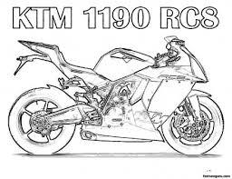 free printabel motorcycle coloring pages kids printable