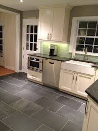 Gray Tile Kitchen Floor by Interesting Slate Floor Kitchen With Decorating