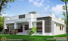 flat roof house design designers kannur kerala home plans
