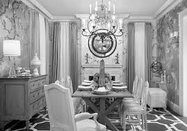 Silver Room Decor Silver And Black Velvet Wallpaper Kitchen Small Formal Dining