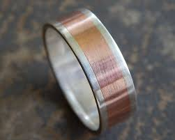 mens rustic wedding bands rustic silver copper men s wedding ring
