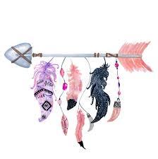 boho arrow with feathers stock illustration illustration of boho