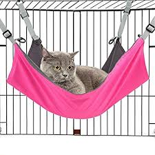 amazon com cat hammocks bed use with cage or chair reversible 2