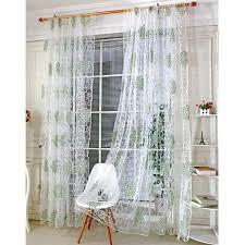 rideau pour fenetre chambre moderne tulle rideaux pour salon vert feuilles sheer rideau pour