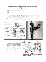 celect injector adjustment 01 05