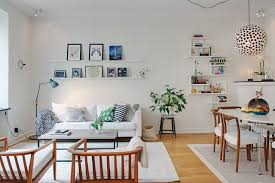 living room scandinavian style interior design nice white fabric