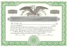 9 best images of free blank stock certificate form blank stock