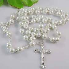 bead cross pendant necklace images 2018 rosary beaded religious necklace glass beads cross pendant jpg