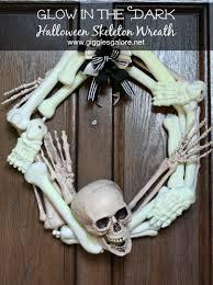 Halloween Skeleton Glow In The Dark Halloween Skeleton Wreath