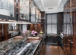 smoked mirror backsplash kitchen backsplashes modern kitchen decoration using black glass