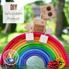 How To Make A Simple Wooden Toy Box by Diy Wooden Robot Buddy Easy Project For Kids