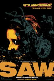 saw 10th anniversary halloween 2014 re release mini 13x20 movie