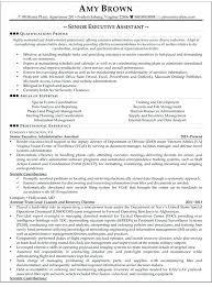senior executive resume sr administrative assistant resume