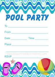 Invatations Pool Party Invitations Cimvitation