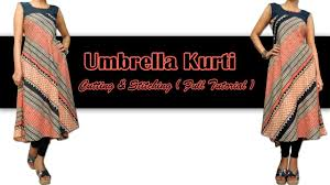 umbrella pattern salwar how to make umbrella kurti cutting stitching full tutorial