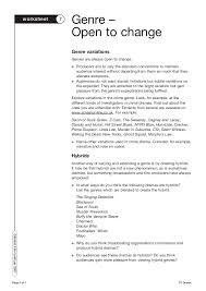tv drama worksheets