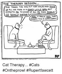 Cartoon Cat Memes - the therapy session lshe takes the dog out for walks and plcks up