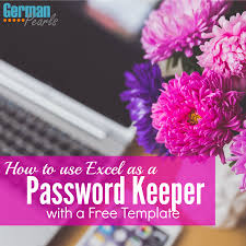 Free Spreadsheet For Windows 8 How To Use Excel As A Password Keeper Free Template German Pearls
