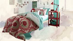 Coral Comforter Sets Anthology Bungalow Reversible Comforter Set In Coral Youtube