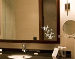 Mirror Stickers Bathroom You 39 Re Beautiful Mirror Or Wall Decal Sticker Bathroom Mirror