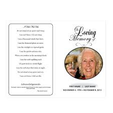 template for funeral program template funeral program word template