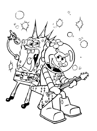 nickelodeon cartoon spongebob squarepants coloring pages