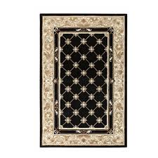 home decorators area rugs home decorators collection churchill black with design 9 ft 9 in